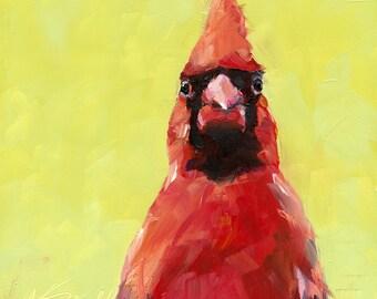 cardinal // wall art // cardinal art // giclee print // bird art // print // art // bird print