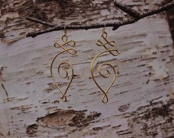 Unalome Earrings