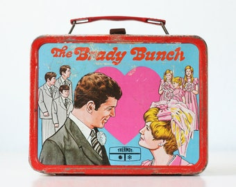Vintage Brady Bunch Lunch Box, King Seeley Thermos Co, 1970