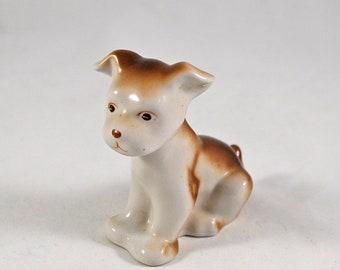 Puppy figurine porcelain 1980s Russian dog statuette Statue dog vintage Russian porcelain Ceramic dog figurine Collectible dog figurine