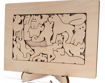 PUZZLE ART DOGS