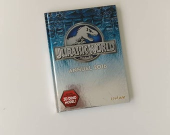 Jurassic World Notebook - handmade from a recycled annual