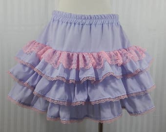 Light purple skirt fairy kei gothic goth lolita small-plus size