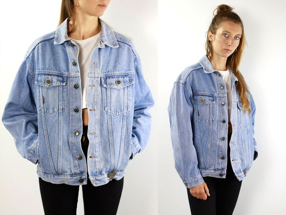 Denim Jacket Vintage Jean Jacket Blue Denim Jacket Large Denim Jacket Grunge Jean Jacket Grunge Denim Jacket Large Jean Jacket Oversize