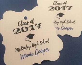 Graduation favor tags, class of 2017 party, graduation envelope sealers