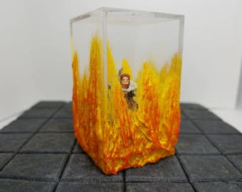 Fire Tomb / Dungeons and Dragons Gift / Miniature / Dungeon Master / Dungeons and Dragons / RPG Miniature / Wargame Terrain / Pathfinder