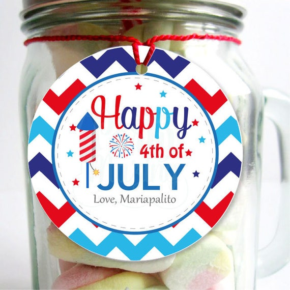 Editable Printable July 4th Tags