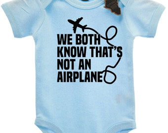 We Both Know That's Not A Airplane Babygrow Vest Top Cute EBG64