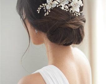 Floral Wedding Hair Clip