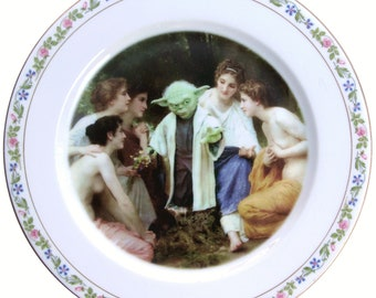 Yoda and the Nymphs Portrait Plate 9""