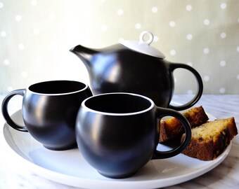 EVA teaset: elegant teapot and cups, from The New York Times