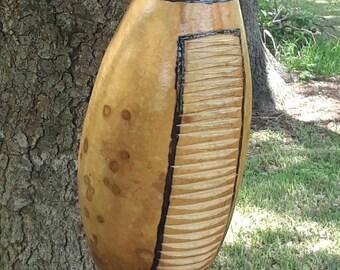 Guiro: Latin American-style gourd rasp (medium)  FREE DOMESTIC SHIPPING