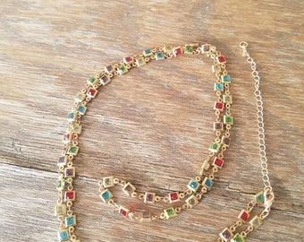 Sale Stained glass necklace