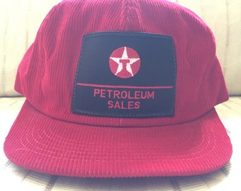 Your Dads Hats: Vintage Corduroy Texaco Trucker Hat