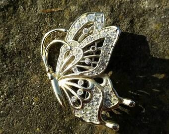 Unusual butterfly brooch