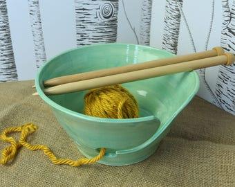 Turquoise Yarn Bowl - Large