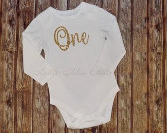 One 1st birthday onesie