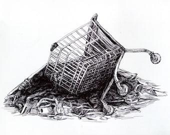 Anti-consumerism Illustration Original Drawing