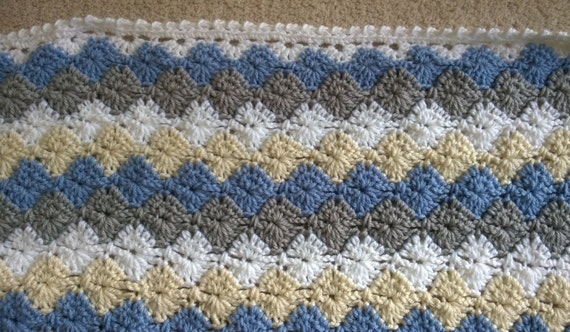 Crochet Pattern Baby Boy Blanket Harlequin Catherine
