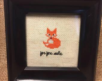 For Fox Sake Cross Stitch