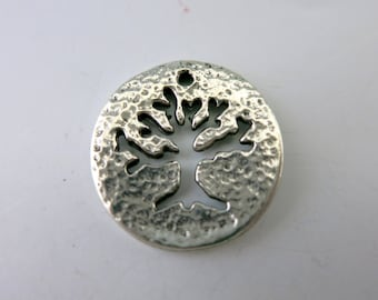 Tree of Life Cut Out Design, Antique Pewter Pendant or Charm, 20mm OD, Choose 1 or more, Ready to Ship, Made in USA