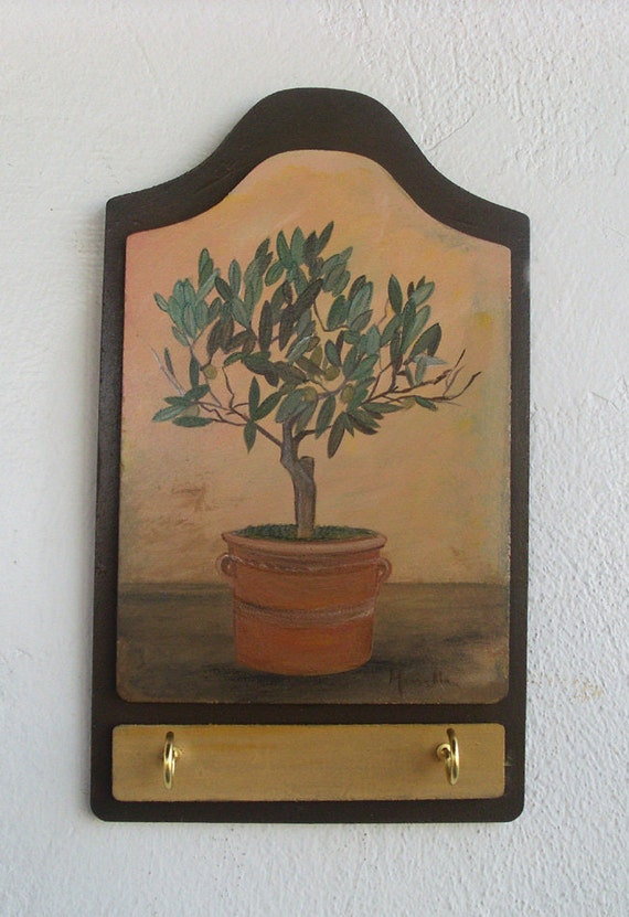Olive Tree - Wooden Key Holder
