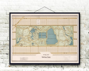 Central Park New York City 1875 Map Fine Art Print