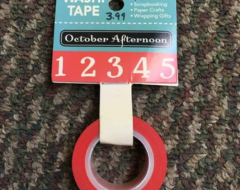 Washi Tape October Afternoon - Numbers
