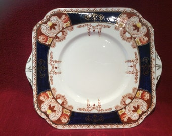 Royal Vale H.J.C. Longton Cake or Bread Plate Pattern No. 3705 circa 1930