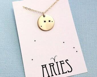 Aries Jewelry | Aries Necklace, Zodiac Jewelry, Zodiac Necklace, Constellation Necklace, Astrology Jewelry, Zodiac Sign Necklace, Zodiac