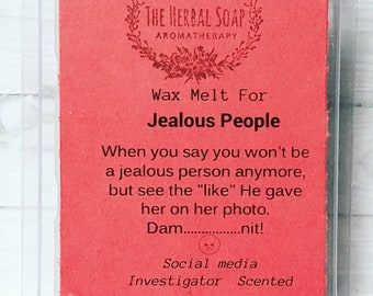 Wax Melt for Jealous People / Wax Melt / Natural Wax Tart / Candle Melt / funny Gifts