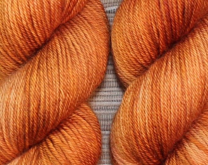 Hand dyed yarn - 'Smoked Chilli' - dyed to order on your choice of base yarn.