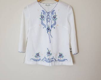 Vintage Lily Embroidered Top