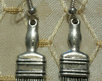 Paintbrush Earrings Artist Painter Dangle Earrings