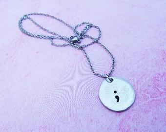 Project Semicolon Necklace - Semi Colon Jewelry - Story Isn't Over