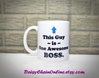 Gift for Boss - Funny Coffee Mug for Boss Christmas Gift, Gift for Men, Boss's Day Gift, Gift for Boss, Gift for Coworker, Gift for boss day