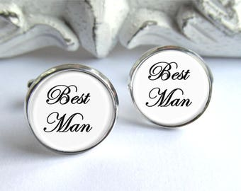 Best Man Cufflinks, Wedding Cufflinks, Gift For Best Man