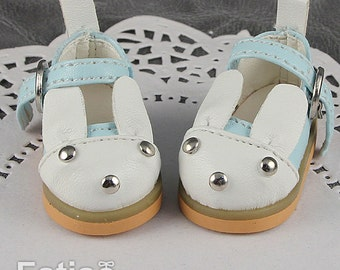 Fatiao - 1/6 BJD dollfie YOSD Rabbit Mary Jane Doll Shoes Blue (Size 4.5cm)