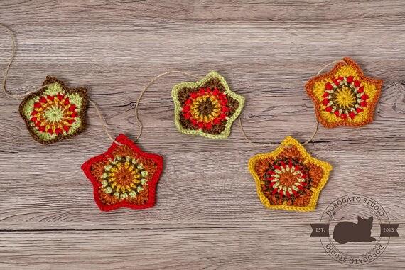 Easy Crochet Star Pattern Tutorial Christmas Stars Pattern Coaster