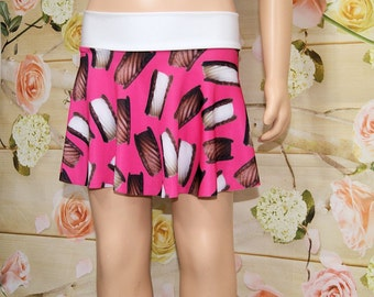 Ice Cream Sandwich Neon Pink Circle Twirl Skirt adult Medium - MTCoffinz - Ready to Ship