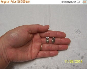 SUMMER SALE 20% OFF, Vintage Heart and Cross earrings. Sterling Silver.