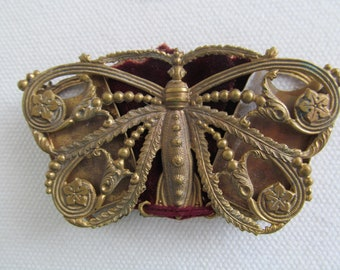 W AVERY and SON BUTTERFLY Needle Case 1873