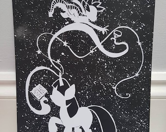 My Little Pony Twilight Sparkle and Spike A4 PRINT Papercut