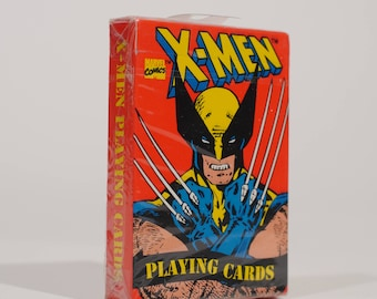 SEALED 1993 X-Men Playing Cards! Marvel Comics Wolverine Cyclops Magneto Storm Gambit 1990s Vintage Brand new