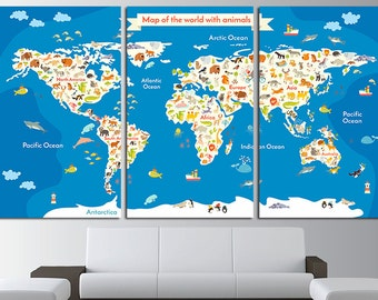 nursery world map nursery map map for kids world map for kids kids wall art kids world map kids map map canvas world map wall art