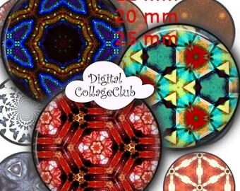 80% off Mothers Day Sale Caleidoscopios - 12 mm, 20mm, 25 mm 1 inch Circle Digital Collage Sheets Bottle Cap Images 1' Button Round Circles