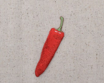 Chili Pepper - Red Hot - Jalapeno/Vegetable Garden - Embroidered Patch - Iron on Applique - WA71