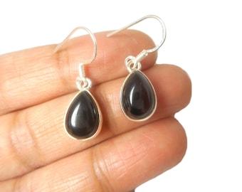 Black ONYX Sterling Silver 925 Gemstone Earrings