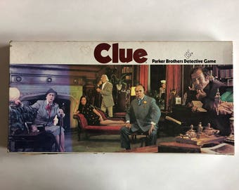 1972 Clue Board Game- Parker Brothers Detective Game- Incomplete: Please Read Description