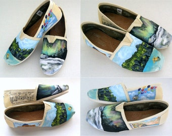Bride's Love Story Shoes Bridal Shower Gift Bridal Unique Wedding TOMS Wedding Flats Personalized Gift Wedding TOMS Outdoor Wedding Shoes